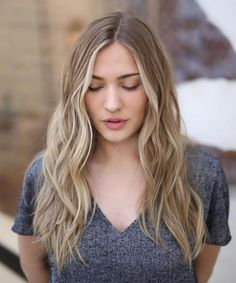 Center Parted Long Wavy Hairstyles 2018 to Look Young and Cute
