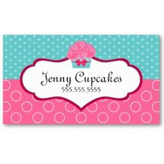 Business Card Showcase by Socialite Designs: Cupcake Bakery Business Cards