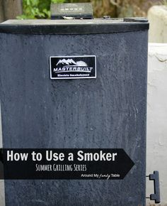 Tips for using an outdoor smoker...it's easier than you think!