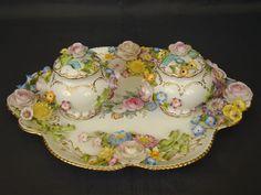 Coalport Coalbrookdale fine porcelain dresser set