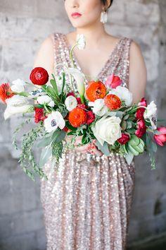 Pretty poppy inspiration - Brooklyn Bride - Modern Wedding Blog