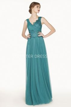 $122.69-Elegant Empire V Neck Tulle Long Prom Dress With Lace Bodice. http://www.ucenterdress.com/empire-v-neck-a-line-tulle-long-prom-dress-with-half-tulle-half-lace-bodice-pMK_301360.html.  Shop for cheap prom dresses, party dresses, night dresses, maxi dresses, little black dresses, junior prom dresses, girls prom dresses, designer prom dresses for sale. We have great 2016 prom dresses on sale. Buy prom dresses online at UcenterDress.com #prom #dress today!