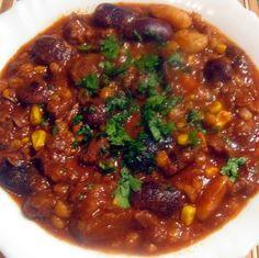 Chilis-babos marha árpagyöngyével Recept képpel - Mindmegette.hu - Receptek Chili, Soup, Chile, Soups, Chilis