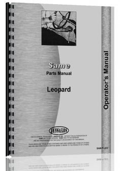 Same Leopard 4 Tractor Parts Manual