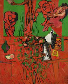 Ceri Richards Red & Green Interior