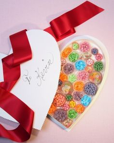 Heart-Shaped Candy Box- I will put in heart healthy fruits and nuts!