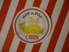 Dr. Seuss Inspired 'Hop on Pop' Stickers. $7.00, via Etsy.
