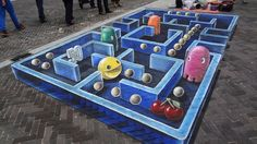 I Can't Stop Staring at This Amazing Pac-Man 3D Street Art