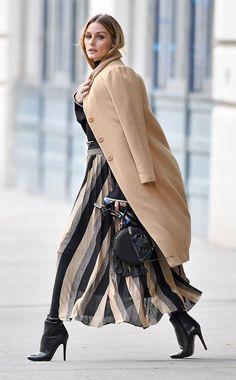 Olivia Palermo Street Style camel & black