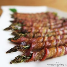 This easy bacon wrapped asparagus recipe is made in the oven with some tricks for extra crispy bacon. Low carb, paleo, gluten-free, keto, and whole 30.