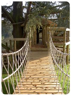 swinging bridges for treehouses - Google Search