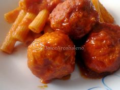 Veal meatballs in sauce - Polpette di vitello al sugo, ricetta gustosa. Veal meatballs with sauce, tasty recipe.