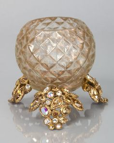 Tessa Bejeweled Tealight by Jay Strongwater at Neiman Marcus.