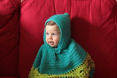 Ravelry: Project Gallery for Baby Poncho pattern by Gayle Bunn