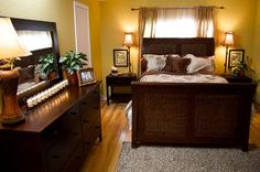 Mobile home Bedroom from CMT's mobile home makeover show Mobile Home Redo, Mobile Home Repair, Mobile Home Makeovers, Mobile Home Living, Mobile Home Decorating, Home And Living, Decorating Ideas, Decor Ideas, Diy Ideas