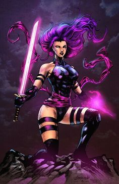 Psylocke lines by John Pross and colours by nahp75