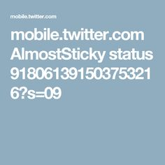 mobile.twitter.com AlmostSticky status 918061391503753216?s=09