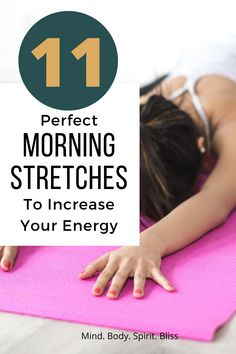 11 Perfect Morning Stretches To Kickstart Your Day (And Increase Your Energy!) 11 Perfect Morning Stretches To Kickstart Your Day (And Increase Your Energy!) 11 Perfect Morning Stretches To Kickstart Your Day. Fit Board Workouts, Easy Workouts, At Home Workouts, Yoga Workouts, Exercise Moves, Stretching Exercises, Fitness Tips, Fitness Motivation, Health Fitness