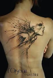 The Bird – Belly Button Tattoo Shop Badass Tattoos, Sexy Tattoos, Body Art Tattoos, Sleeve Tattoos, Tatoos, Trash Polka, Sketch Style Tattoos, Tattoo Sketches, Bilal Enki