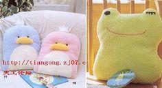 Dulces almohadones con forma de animalitos - Las Manualidades
