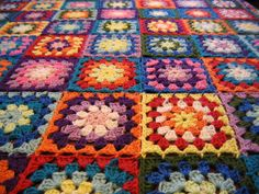 Granny square blanket close-up by Anna_K.pictures, via Flickr