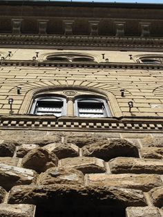 Palazzo Medici Riccardi - detail - gradated facade - architect Michelozzo - 1445 - Florence