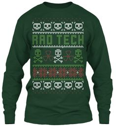 """Ugly Sweater-Style Printed Long sleeve Tee Shirt"