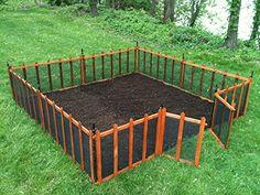 Amazon.com : Terra Garden Fence GF-4, Protect & Beautify, 32 Feet of Fencing Included, Wire Mesh Animal Barrier : Outdoor Decorative Fences : Patio, Lawn & Garden