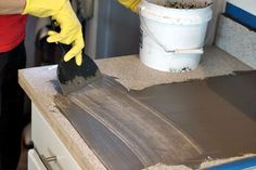 applying concrete to countertops                                                                                                                                                      More