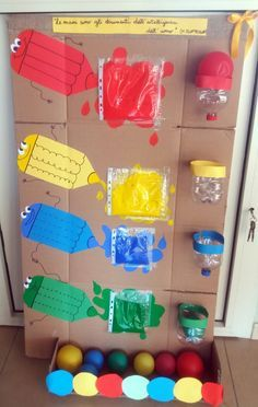 Pannello sensoriale: i colori. Sensorial panel: the colorsThis Pin was discovered by Dom Kids Crafts, Preschool Crafts, Diy And Crafts, Preschool Learning Activities, Color Activities, Infant Activities, Baby Sensory Play, Preschool Colors, Kids And Parenting