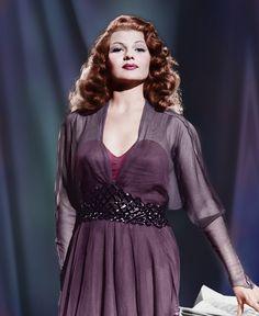 Rita Hayworth - love that color