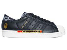 hot sale online e9b30 337f5 Adidas Originals Superstar - Chaussure Adidas Sportswear Pas Cher Pour Homme Femme  Noir Blanc SS80vUNDFTDBAPE