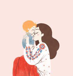 CHILDREN'S - Oana Befort's Portfolio Art And Illustration, Illustrations, Mode Poster, Mother Art, Cute Couple Art, Baby Art, Drawing For Kids, Cartoon Drawings, Belle Photo