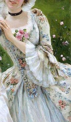 Source by farinamava fashion 18th Century Dress, 18th Century Fashion, Historical Costume, Historical Clothing, Rococo Fashion, Vintage Fashion, Madame Pompadour, Baroque Dress, Fairytale Fashion