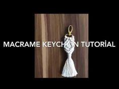 Diy Macrame Keychain Tutorial / Makrome Anahtarlık Yapılışı - YouTube