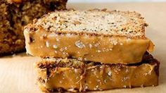 Banana bread is delicious all by itself, but add a layer of salted caramel to the top and it's just plain decadent!