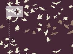 Baumwolle von Art Gallery ♥ Vögel ♥ brombeer von clarasstoffe auf DaWanda.com