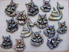 Мастер-класс, Поделка, изделие Лепка: Соленые змеи и коты. Мини-МК. Тесто соленое Новый год. Фото 1