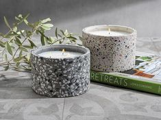 Candles & Home fragrance | zodax Candle Containers, Candle Jars, Candle Holders, Soy Wax Candles, Scented Candles, Best Smelling Candles, Home Decor Outlet, Terrazzo, Decorative Accessories