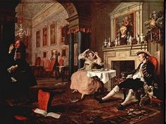 Hogarth William 1697.1764-matrimonio alla moda con cavalier king