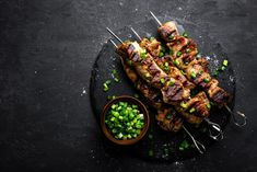 Find Grilled Meat Skewers Shish Kebab On stock images in HD and millions of other royalty-free stock photos, illustrations and vectors in the Shutterstock collection. Kabob Recipes, Grilling Recipes, Cooking Recipes, Healthy Recipes, Meat Skewers, Lamb Skewers, Antipasto Kabobs, Shish Kebab, Grilled Lamb