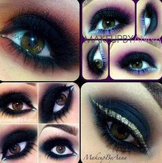 A beautiful mixture of color and different makeup