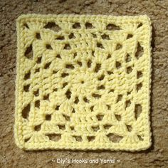 ~ Dly's Hooks and Yarns ~: ~ 'Take 2' square ~makes a 6 inch square