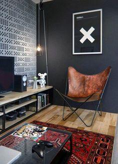Manly Mens Bachelor Pad Living Room Decor Ideas