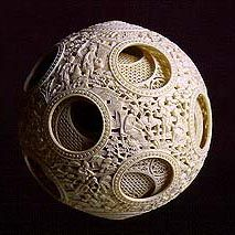 Ivory ball www. Decorative Spheres, Decorative Items, Amazing Paintings, Amazing Art, Asian Artwork, Objet D'art, Flower Of Life, Bronze, Types Of Art