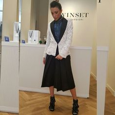 Twinset outfit white & black