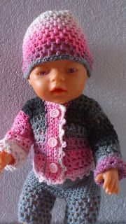 Stick och virka!: Virkade dockkläder till Baby Born Baby Barn, Barbie Dolls, Doll Clothes, Crochet Hats, Fashion, Creative, Families, Knitting Hats, Moda