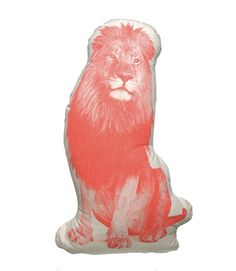 Rawrrrrr!  What a fun bedmate ;) Large Organic Cotton Lion Pillow from Shop Nectar