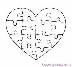 Puzzle Of Life 谜图人生: Free Heart Shaped Puzzle TemplateYou can find Puzzle pieces and more on our website.Puzzle Of Life 谜图人生: Free Heart Shaped Puzzle Template Puzzle Piece Crafts, Puzzle Pieces, Puzzle Piece Template, Heart Template, Crafts To Make, Crafts For Kids, Shape Puzzles, Scroll Saw Patterns, Diy Art