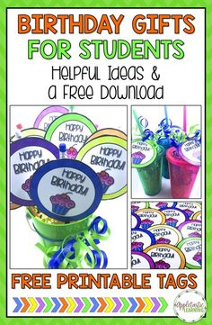 Classroom Birthday Gifts, Student Birthday Gifts, Preschool Birthday, Teacher Birthday, Student Gifts, Birthday Ideas, Student Welcome Gifts, Birthday Rewards, School Gifts